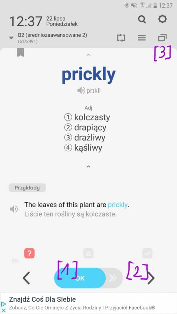 WordBit - tryb nauki